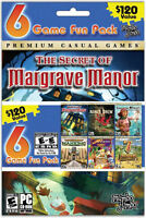 Mumbo Jumbo 6 Game Fun Pack - Samanta Swift, 7 Wonders Ii, Luxor Mahjong, Slingo