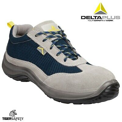 Delta Plus Como S1P SRC Ladies Suede Mesh Safety Work Trainers Shoes Steel Toe