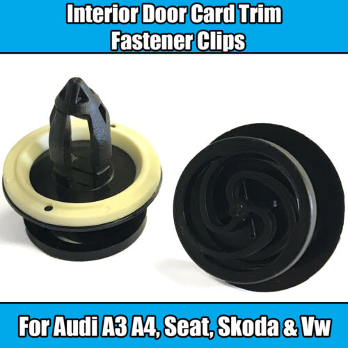 50x Clips For Audi A3 A4 VW Seat Interior Door Card Trim Panel Mounting Plastic
