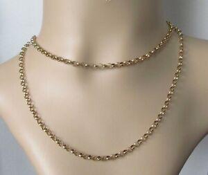 9ct Collar De Oro-Vintage de Belcher Cadena de oro amarillo de 9ct (29 Pulgadas)