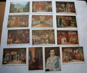 Details zu Schloß Neuschwanstein 13 AK - Schlafzimmer Wohnzimmer 1  Thronsaal Sängersaal ...