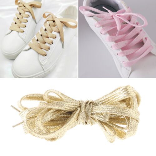 Rare Colored Shoelaces Shiny Shoestrings Glitter Athletic Sneaker Flat Laces~