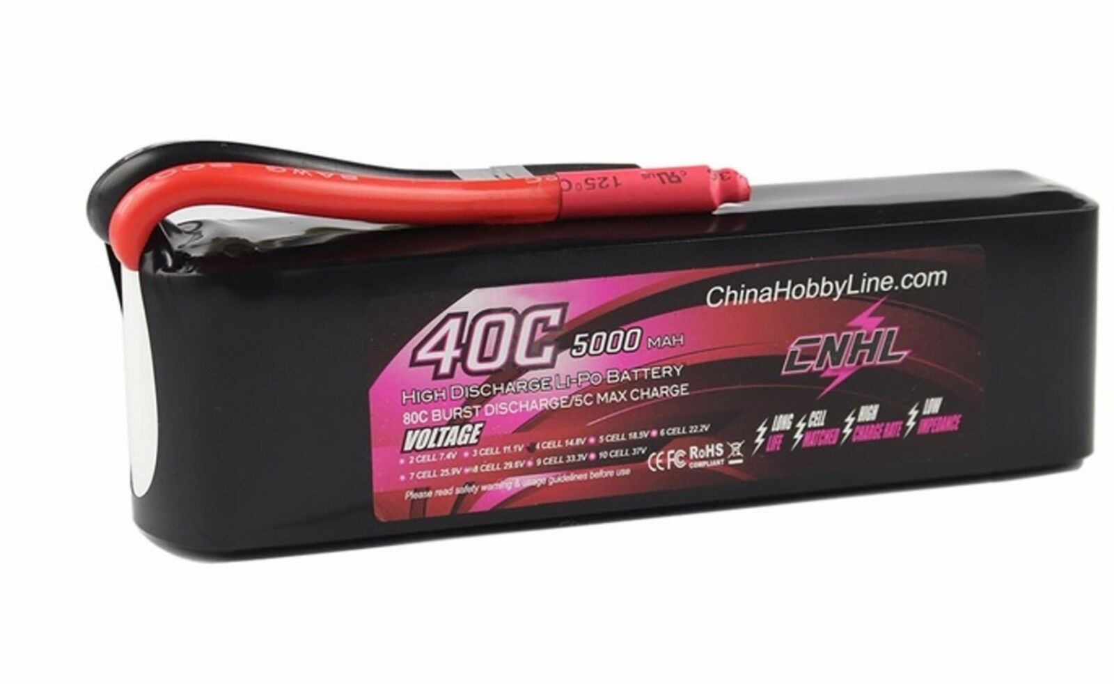 5000mAh 14.8V 40C Max 80C 4S Lipo Battery for RC drone helicopter car boat ect
