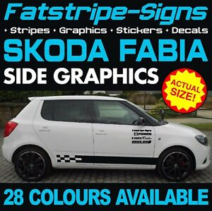 4x vRS Logo Vinyl Decal Sticker for Skoda Fabia Octavia 10 colours 2 sizes