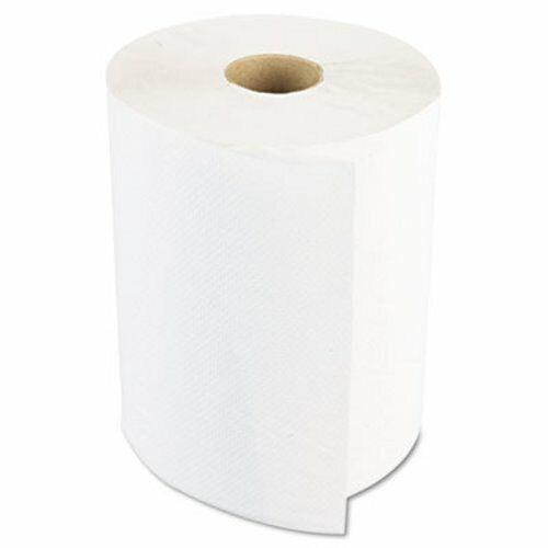 6 Rolls Boardwalk 800 ft White Hard Roll Paper Towels BWK6254B