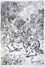 """GIORGIO DE CHIRICO Signed 1948 Original lithograph - """"I Nictomachi"""""""