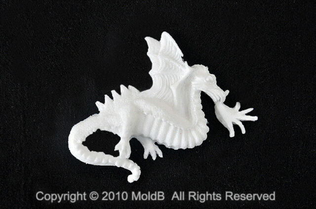 Dragon #2, Silicone Mold Chocolate Polymer Clay Jewelry Soap Melting Wax Resin