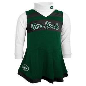 best loved 5cd80 26eb5 Details about New York NY Jets CHEERLEADER nfl NFLPA Dress INFANT BABY  NEWBORN Jersey 12M
