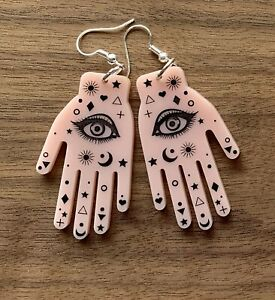 Palmistry Fortune Telling Hands Acrylic Earrings - Choose Your Set