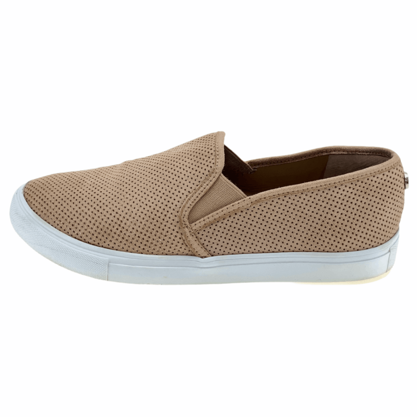 Steve Madden Womens Zarayy Brown Casual Comfort Sneakers Shoes Slip On Size 8 M