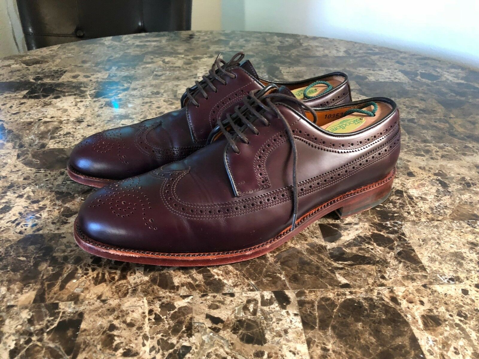 Crosby Square Uomo Findlay Wingtip Brogue Dress Shoes - Size 43 (  Size 11.5)