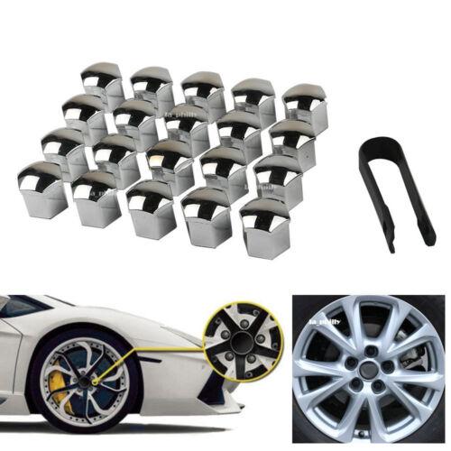 20x 19mm Chrome Car Wheel Lug Bolt Nut Cover Cap Puller For Ford Focus Explorer