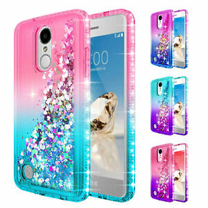 sale retailer 245a4 2ab13 Details about For LG Rebel 3 LTE / Fortune 2 / Aristo 3 | Liquid Glitter  Bling Cute Cover Case