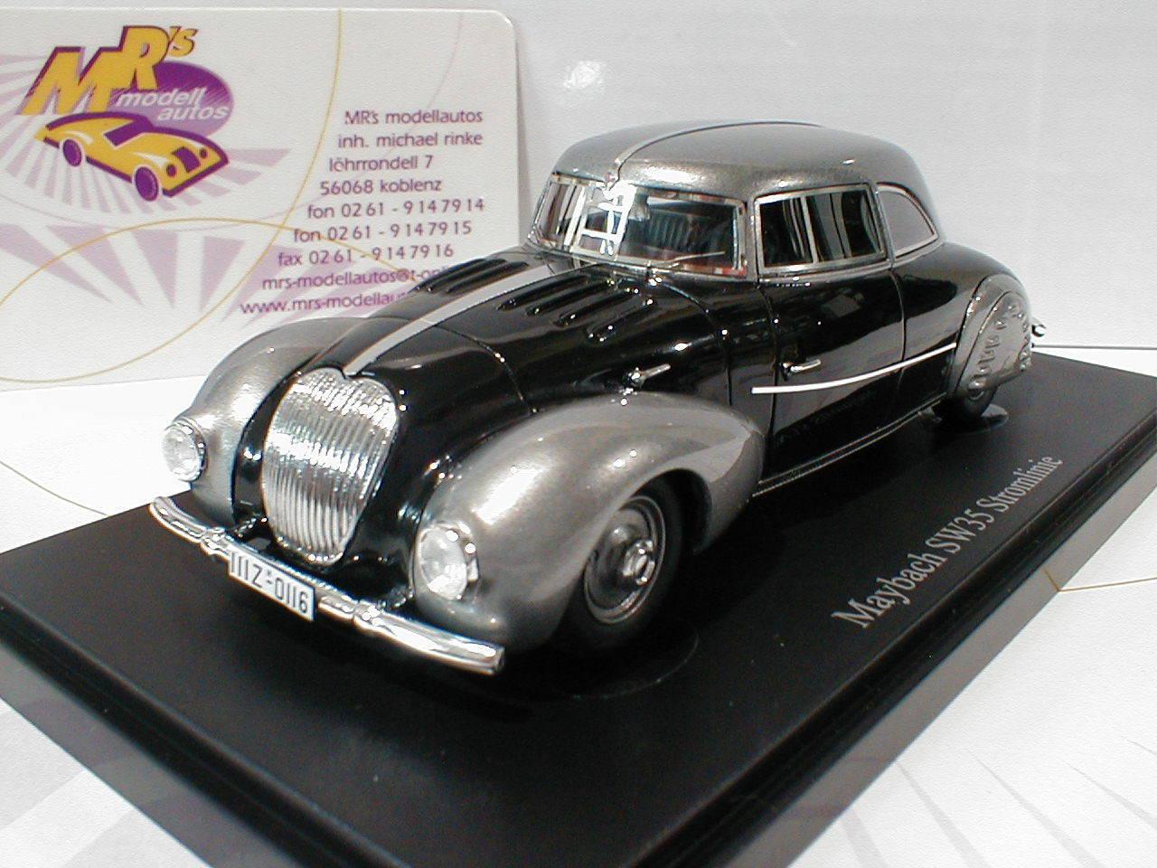 servicio honesto Autocult Autocult Autocult 04008-Maybach sw35 electricidad línea año de fabricación 1935  plata-negro  1 43  marca