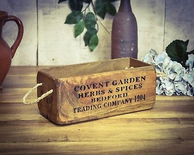 Trug Crate Straightforward Vintage Antiqued Wooden Box Covent Garden Small Box Herbs Reliable Performance