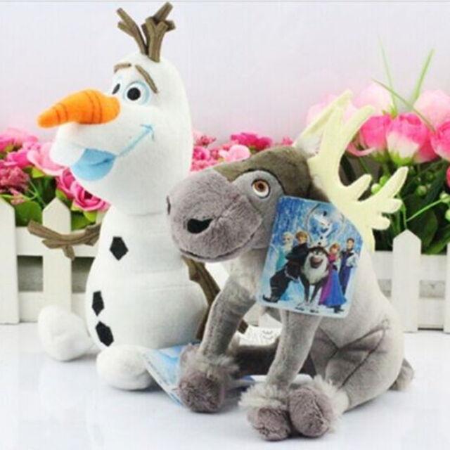 Disney Frozen Movie Figure Olaf Snowman Sven Soft Plush Doll Kids Xmas Toy Gifts