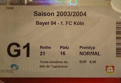 Tickets Köln Leverkusen