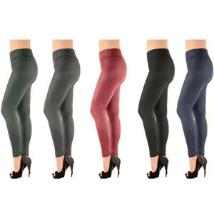 shop for original dirt cheap online store Details about Womens Faux Leather Legging High Waist Liquid Vinyl Skinny  Pants