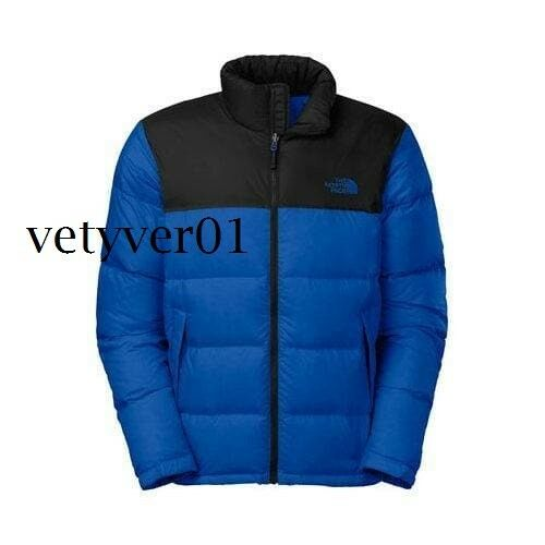 NWT THE NORTH FACE Nuptse Insulated 700 Down Jacket Bright Cobalt Blue size XL