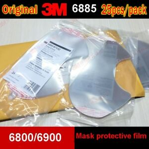 3M 6885 RESPIRATOR LENS Cover protective film for 3M 6700 6800 6900 Mask 25Pcs