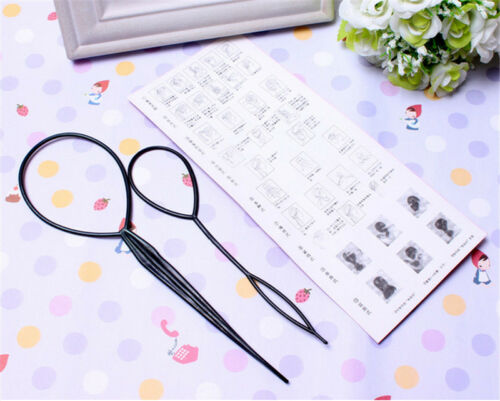 1Pair Pack of Topsy Hair Braid Pony Tail Maker Styling Tool Hair Pattern O tYJCN