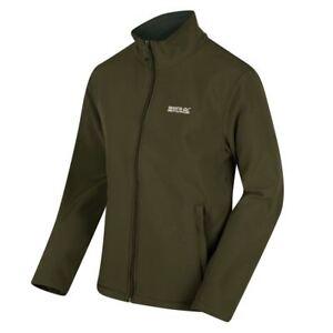 Mens-Jacket-Softshell-Fleece-Cera-Lightweight-Winter-Outdoor-Work-Dark-Khaki