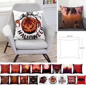 18-034-Halloween-Nuit-Imprime-Decoratif-Housse-de-Coussin-Taie-d-039-Oreiller-Carre