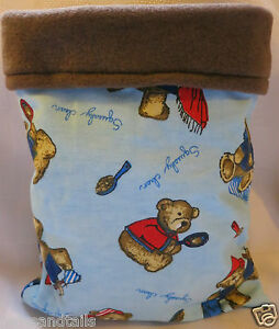 Guinea Pig Gerbil Hedge Hog Ferret snuggle sack/sleeping bag 8x12 bears 114