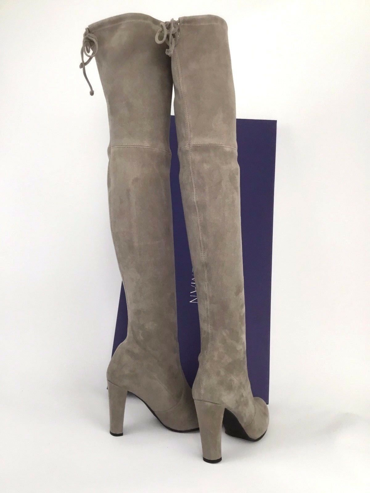 798.00 Stuart Weitzman Highland Over-the-knee Topo Suede Boot Size 7.5