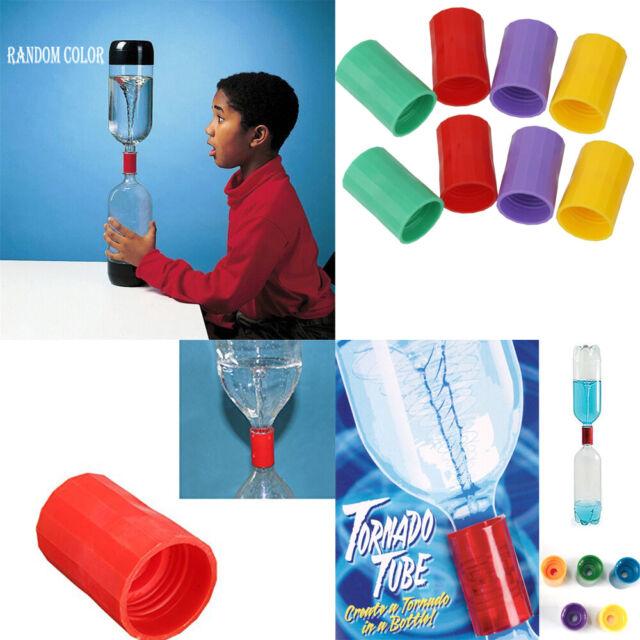 2Pcs Tornado Bottle Water Connector Cyclone Tube Science Education Toy Random