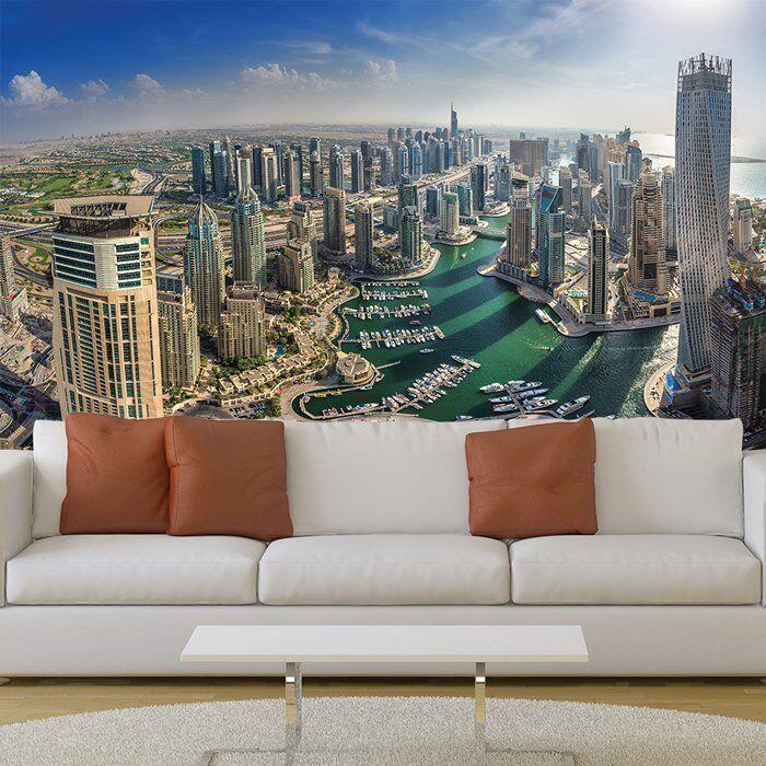 Dubai Stadtbild Fototapete Stadt Skyline Tapete Büro Schlafzimmer Dekor