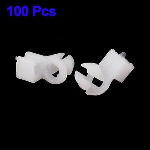 100x-Auto-Voiture-plastique-8mm-Diametre-trou-VERROU-PORTE-ATTACHE-BARRE-CLIPS