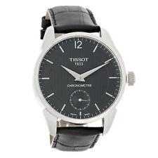 Tissot T-Complication Men Black Leather Swiss Automatic Watch T070.406.16.057.00