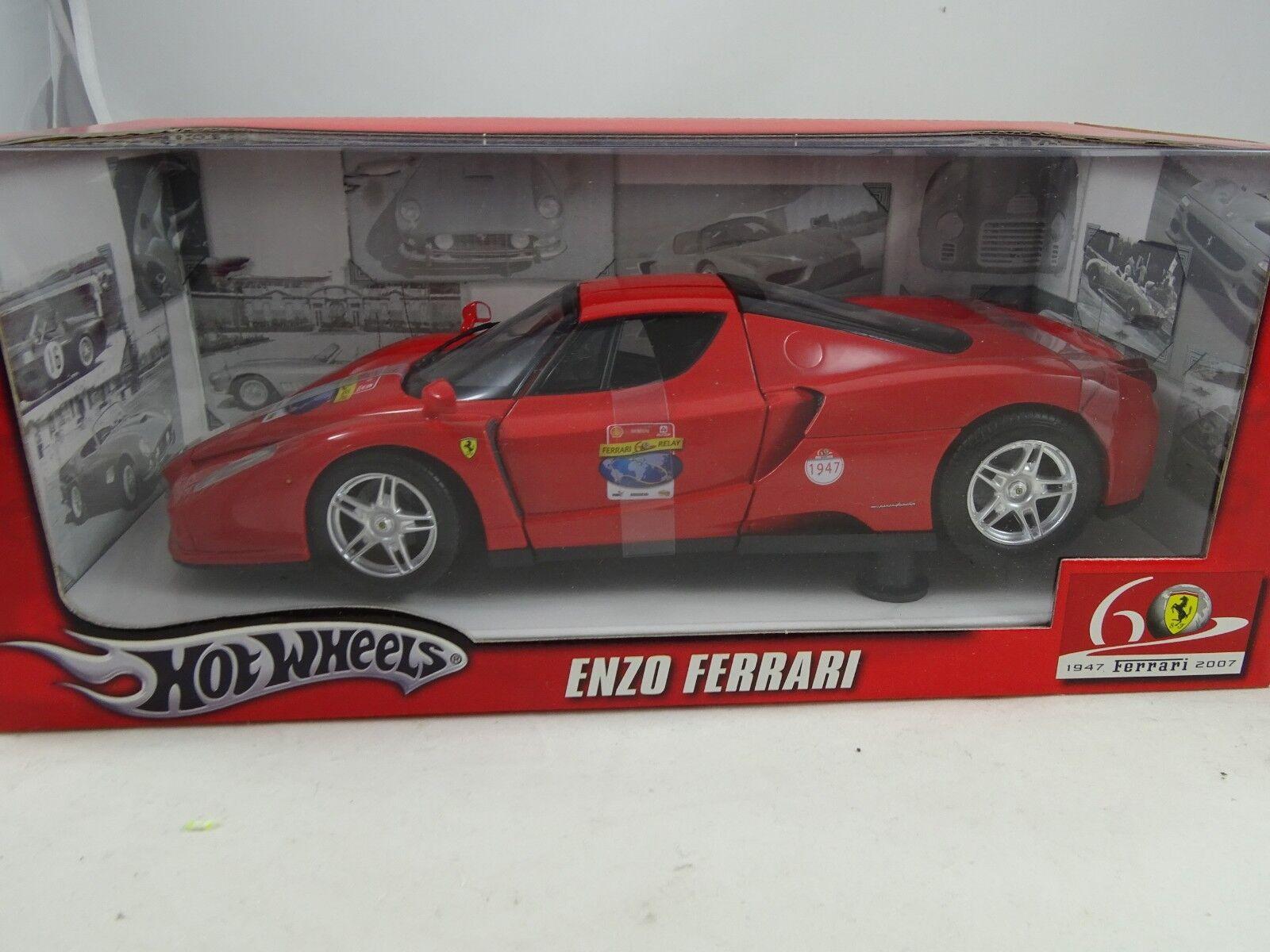 n ° 1 en línea 1 18 Hot Wheels  L2968 L2968 L2968 Enzo Ferrari 60 Aniversario Rojo - Rareza  descuento