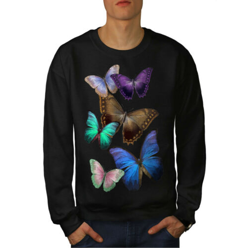 Butterfly Black uomo da Multicolor New Felpa zqwU7d7