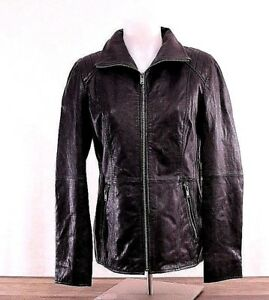 NWT-Andrew-Marc-New-York-Women-039-s-Size-SMALL-Black-Leather-Jacket-MW7C1740-NEW