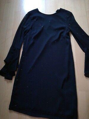 h&m kleid 34 schwarz mit glitzer *** neuwertig | ebay