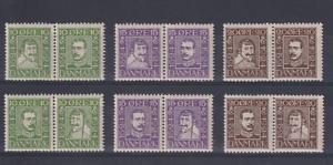 DENMARK-1924-MNH-set-12-Sc-164-75-c-v-168-a-little-gum-disturbance