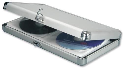 doublé de velours Metal CD Boîtier de rangement. élégant Aluminium Compact Boîtier De CD