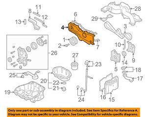 subaru oem 10 12 legacy engine parts outer timing cvr right rh ebay com  Porsche 944 2.5L Engine