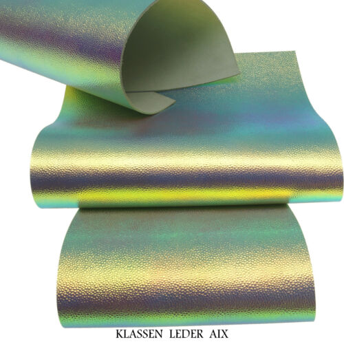 Rindleder Irisierend Metallic Design 2,4 mm Dick A3 Echt Leder Leather 300