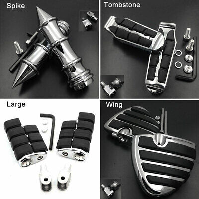 Wing Front Foot Pegs For 1996-2007 06 Honda Shadow VLX 600 VT600C VT600CD Deluxe