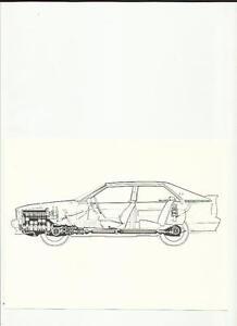 """Audi Quattro """"schéma"""" Photo De Presse """"la Brochure Commerciale""""-afficher Le Titre D'origine Par Processus Scientifique"""