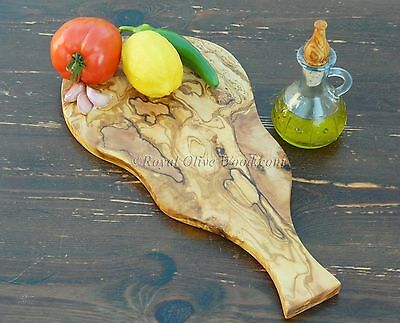 OLIVE WOOD HANDMADE CHOPPING / CHEESE / SERVING / PLATTER BOARD WITH HANDLE