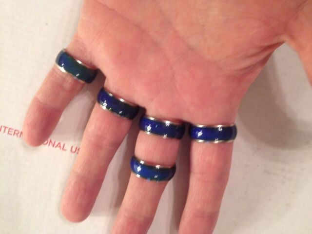 Mood Color Ring Change Changing  GIFT UNISEX Fashion Emotion Band Temperature
