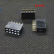 10Stk  2x5 10Pin Double Row Female Straight Header 2.54mm Pitch Socket Zubehör