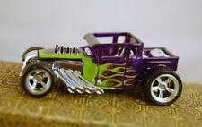 2010 Hot Wheels Garage #11 Bone Shaker Purple W/Green Flames Real Riders RRC