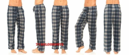 New Mens Flannel Fleece Pajama Pant Lounge Pants Size S M L XL XXL