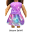 Unicorn-Top-amp-Skirt-18-034-Doll-Clothes-fits-American-Girl-dolls thumbnail 5