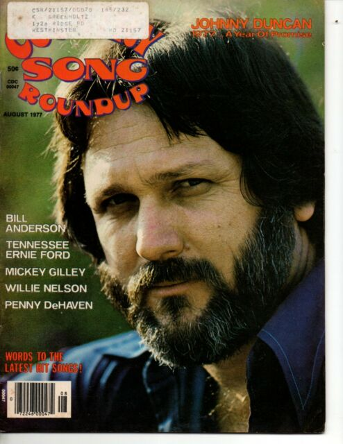 Country Song Roundup Magazine Aug 1977 Johnny Duncan ...